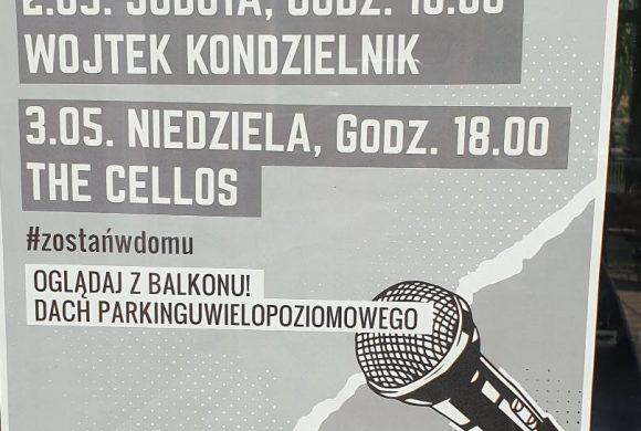 #zostanwdomu – czyli majówkowe koncerty nadachu parkingu wsobotę iniedzielę o18:00